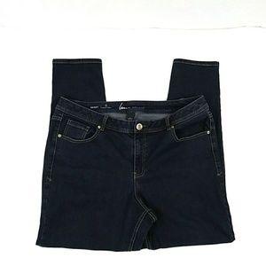 Lane Bryant Genius Fit Skinny Dark Wash Jeans